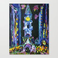 Broad Street New Years Canvas Print