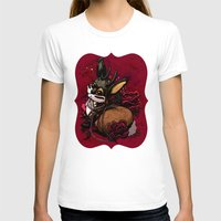 Jackalope, Pearls, and Roses Womens Fitted Tee White SMALL