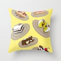 desserts Throw Pillow