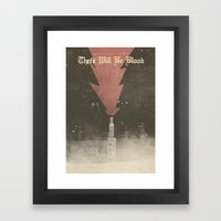 There will be blood - Alternative Movie Poster Framed Art Print