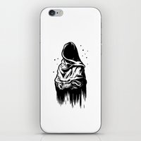 Time (Black And White) iPhone & iPod Skin
