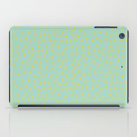 Yellow Pit On Mint /// W… iPad Case