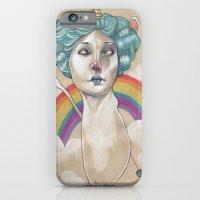 iPhone & iPod Case featuring RAINBOW UNICORN by busymockingbird