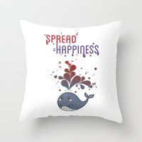 Spread Happiness Throw Pillow