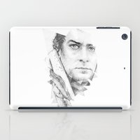 Bonobo Dot Work Portrait iPad Case