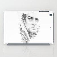 bonobo dot work portrait iPad Case