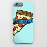 iPhone & iPod Case featuring Life is a Pizza Party by Josh LaFayette