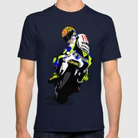 Valentino Rossi Mens Fitted Tee Navy SMALL