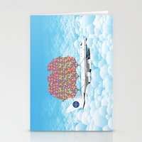 Happy Plane Stationery Cards