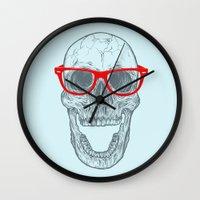Smart-Happy Skully Wall Clock