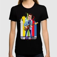 Elvis (Costello) Lives! Womens Fitted Tee Black SMALL