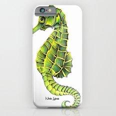 Sea Horse Green Yellow Sea Life Ocean Underwater Creature iPhone 6s Slim Case