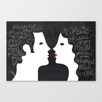 Your Love Is More Deligh… Canvas Print