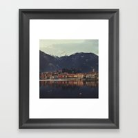 Reflections On The Lake Framed Art Print