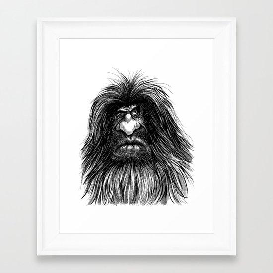 Caveguy Framed Art Print