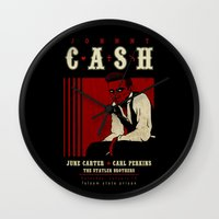 Cash Live at Folsom Prison Wall Clock