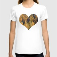 Autumn Tamarack Pine Tre… Womens Fitted Tee White SMALL