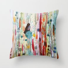 Sur La Route Throw Pillow