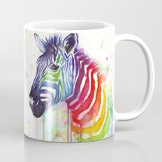 Zebra Watercolor Rainbow Painting | Ode to Fruit Stripes Mug