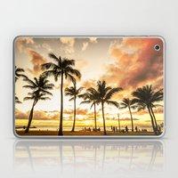 Typical Picturesque Waikiki Beach Sunset Laptop & iPad Skin