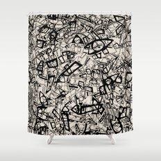 - newspaper - Shower Curtain