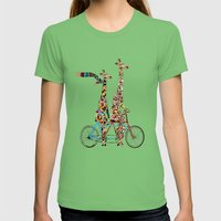 Giraffe Days Lets Tandem Womens Fitted Tee Grass SMALL