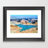 Soaring Over Turquoise A… Framed Art Print