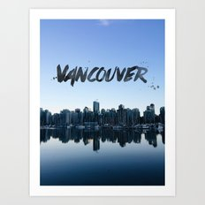 Vancouver land Art Print
