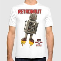 :: RETRONAUT Mens Fitted Tee White SMALL
