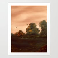 The Autumn Leaves Art Print