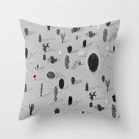 Cactarium Throw Pillow