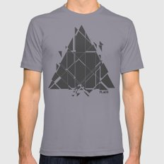 PLACE Triangle V2 Mens Fitted Tee Slate SMALL