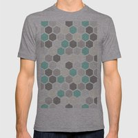 Geometric One Mens Fitted Tee Athletic Grey SMALL