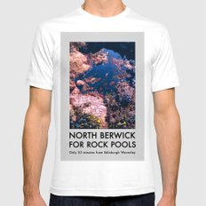 NORTH BERWICK FOR ROCK POOLS White SMALL Mens Fitted Tee