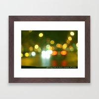 getting lost Framed Art Print