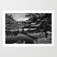 Androscoggin Swing Bridg… Art Print