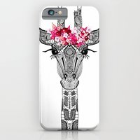 iPhone Cases featuring FLOWER GIRL by Monika Strigel