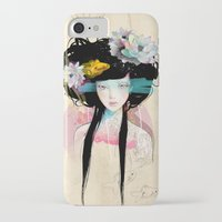 heart iPhone & iPod Cases featuring Nenufar Girl by Ariana Perez