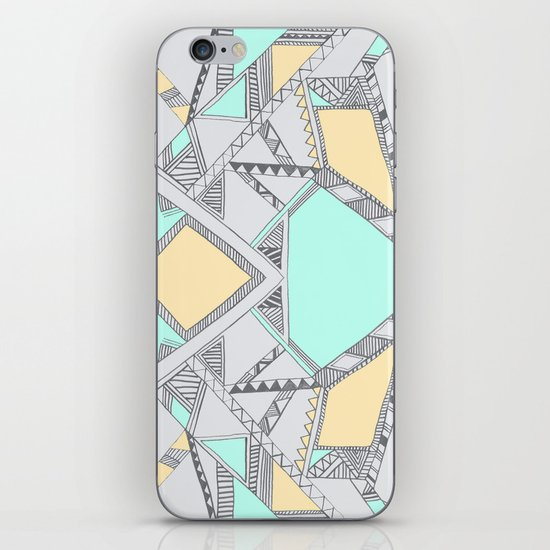 Aztec print illustration (2) iPhone & iPod Skin