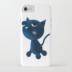 Light Blue Cat iPhone 7 Slim Case