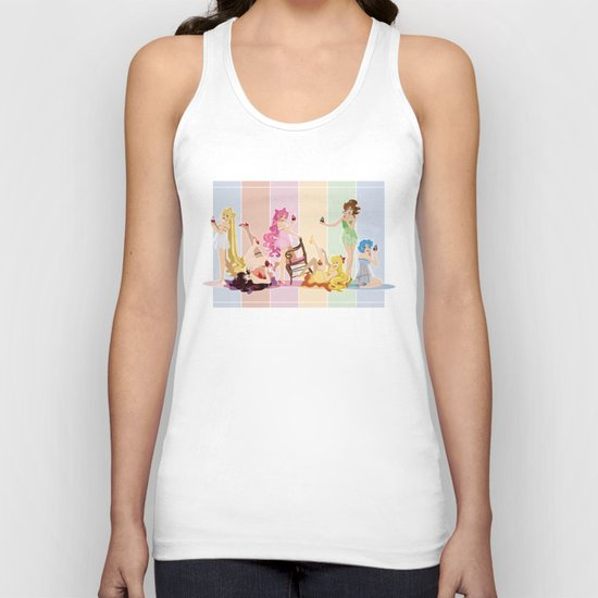 Sailor Moon Pinup - Cupcakes Unisex Tank Top