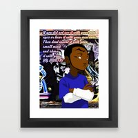 Sharing is not always Caring Framed Art Print