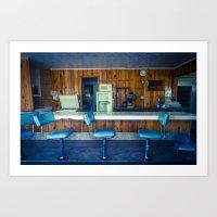 Antelope Cafe Art Print