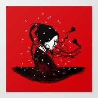 Geiko Poetry Canvas Print