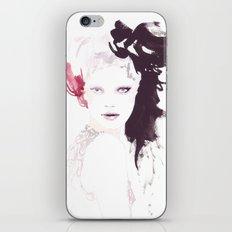 Fashion illustration in watercolors iPhone & iPod Skin