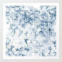 Flower Cubes Art Print