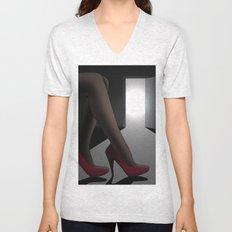 Red Shoes Unisex V-Neck