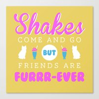 Friends Are Furrr-ever Canvas Print