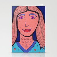 Be Brave.  Be Yourself! Stationery Cards