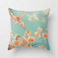 Splash of Pink Throw Pillow